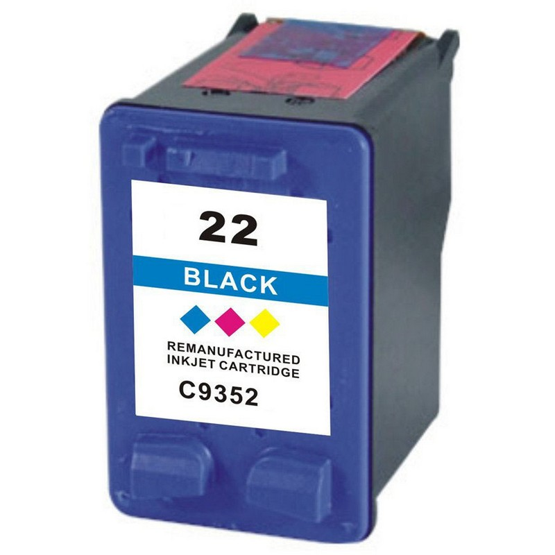 HP C9352AN Color Ink Cartridge-HP #22