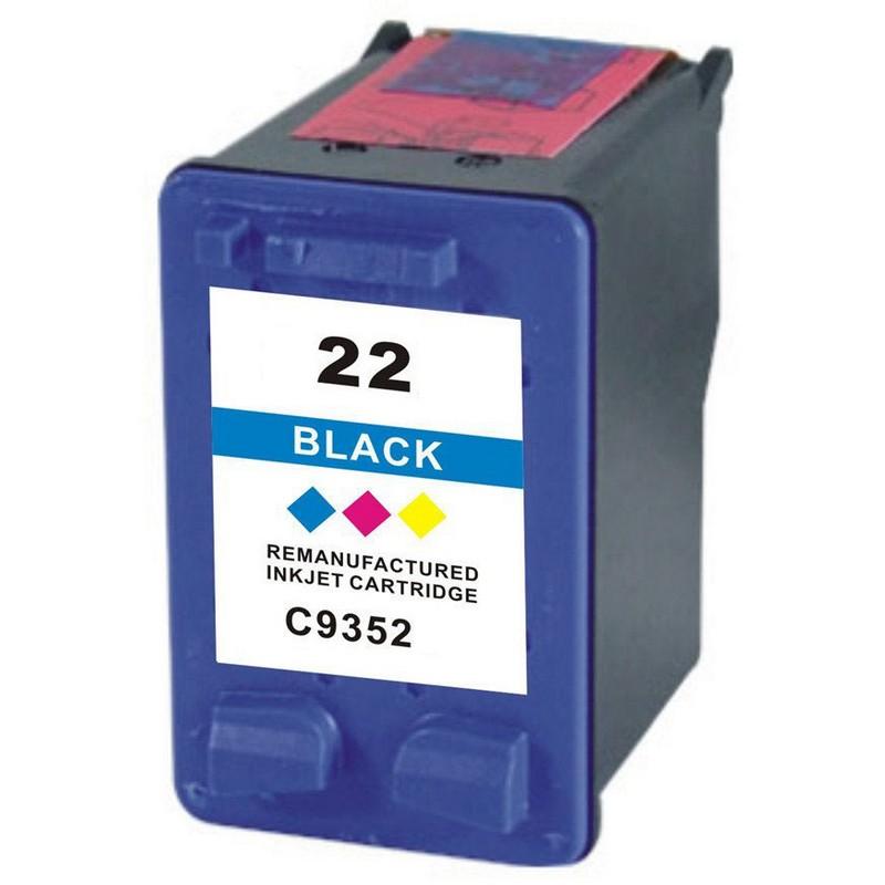 HP C9352AN Color Ink Cartridge-HP #22