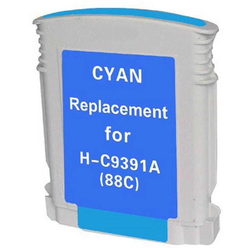HP C9391A Cyan Ink Cartridge-HP #88XL