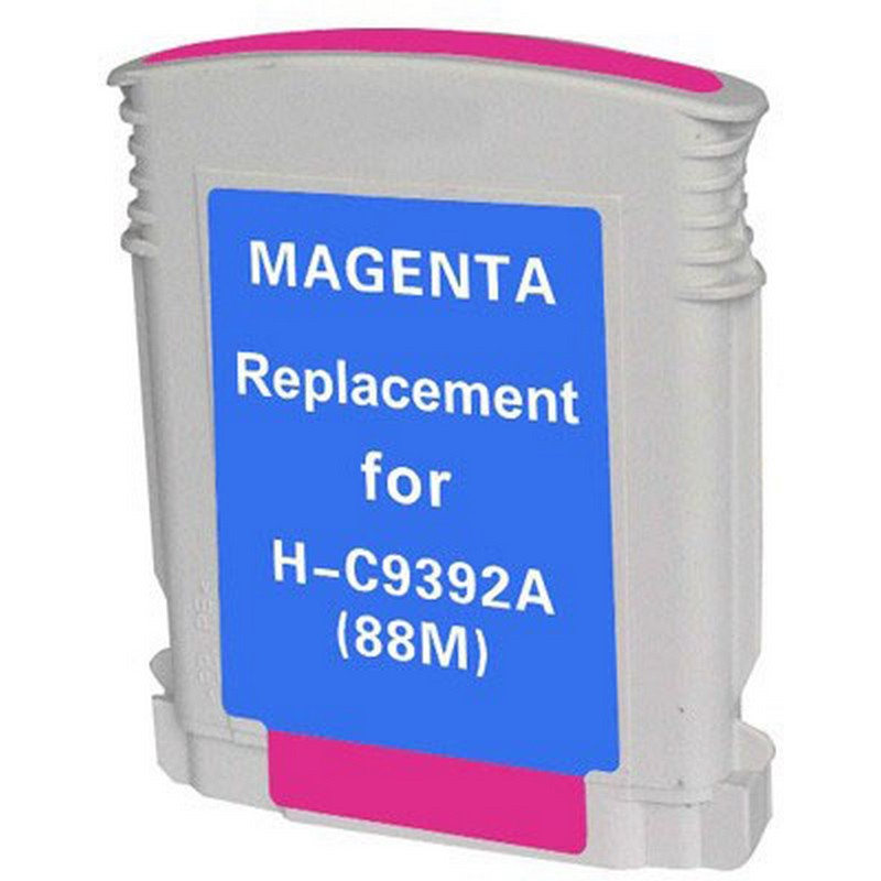 HP C9392A Magenta Ink Cartridge-HP #88XL