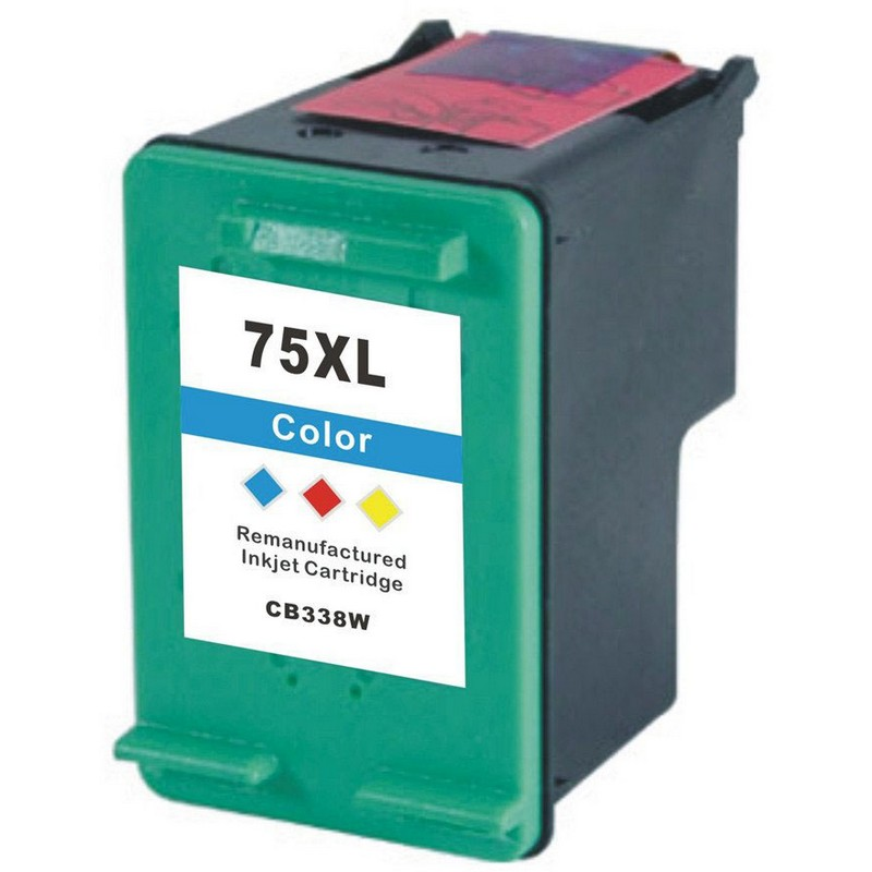 HP CB338WN Color Ink Cartridge-HP #75XL