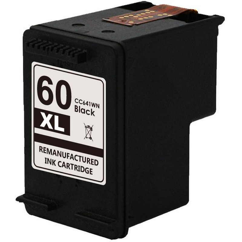 HP CC641WN Black Ink Cartridge-HP #60XL