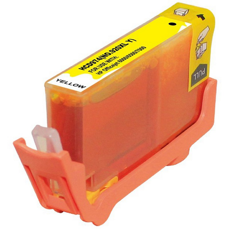 HP CD974AN Yellow Ink Cartridge-HP #920XLY