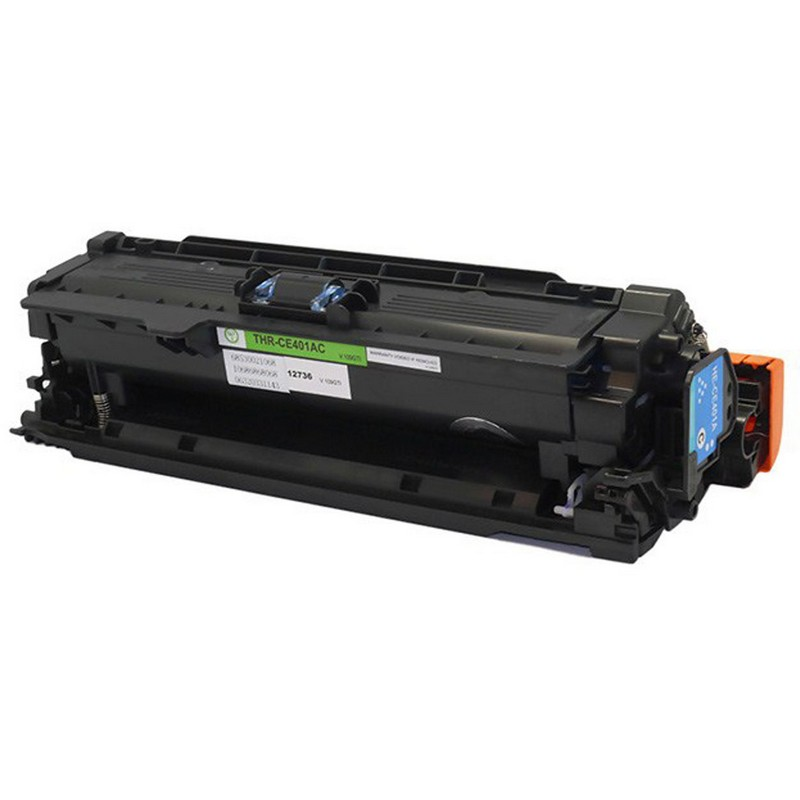Set of 2 HP CE401A Cyan Toner Cartridge-HP 507A