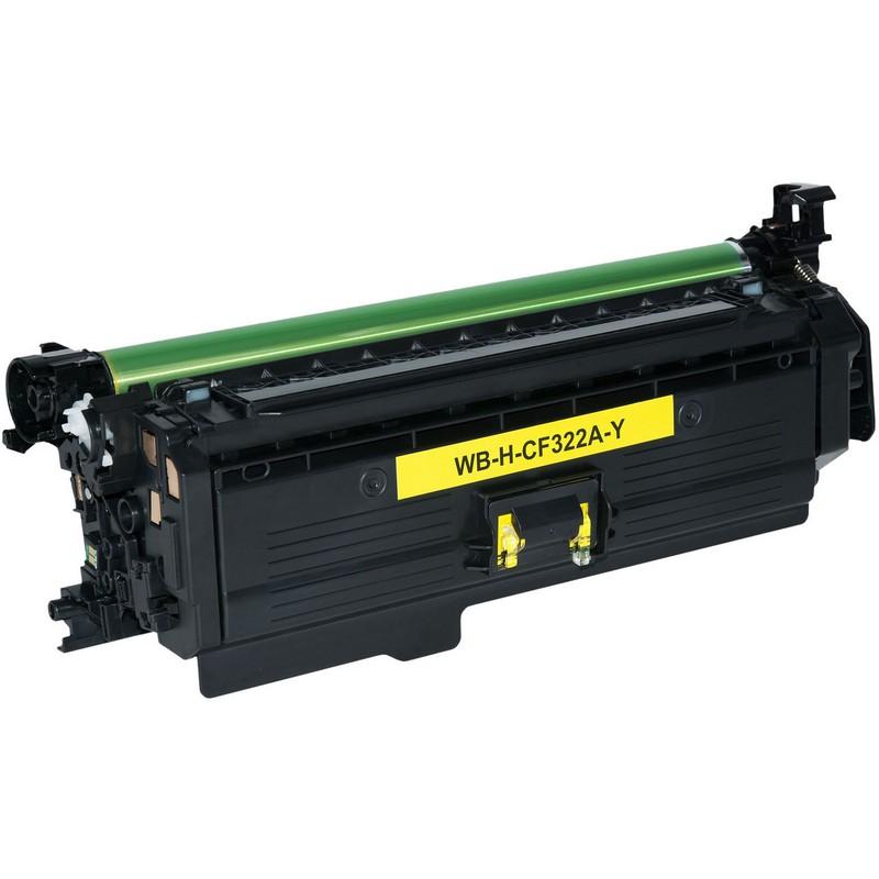 HP CF322A Yellow Toner Cartridge-HP 653A