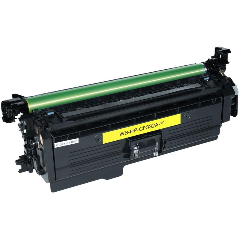 HP CF332A Yellow Toner Cartridge-HP 654A