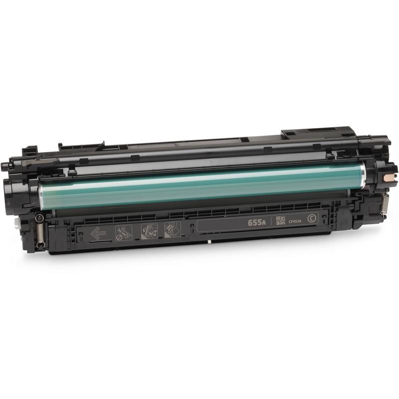 HP CF451A Cyan Toner Cartridge-HP 655AC
