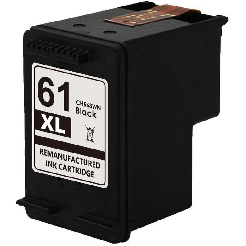 HP CH563 Black Ink Cartridge-HP #61XL