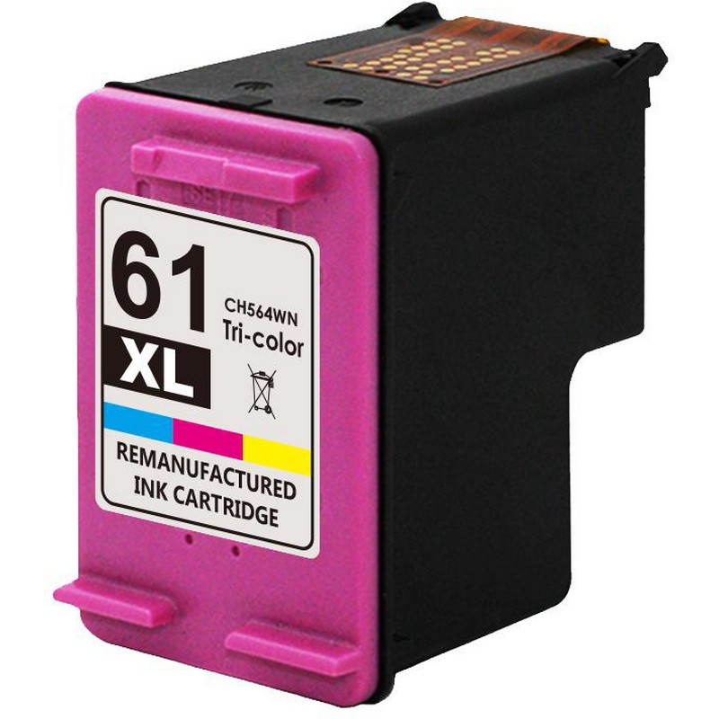 HP CH564 Color Ink Cartridge-HP #61XL