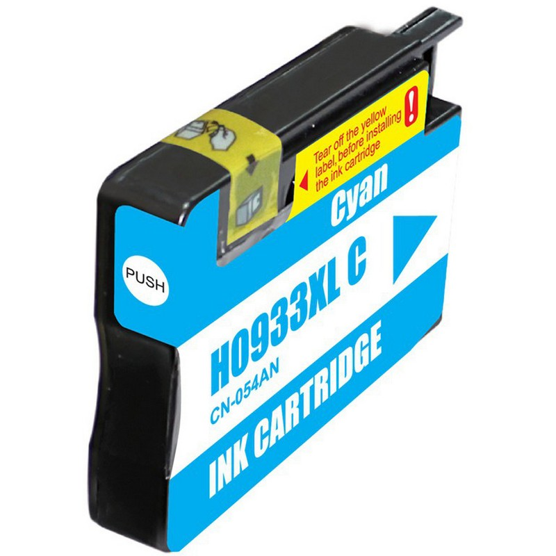 HP CN054AN Cyan Ink Cartridge-HP #933XLC