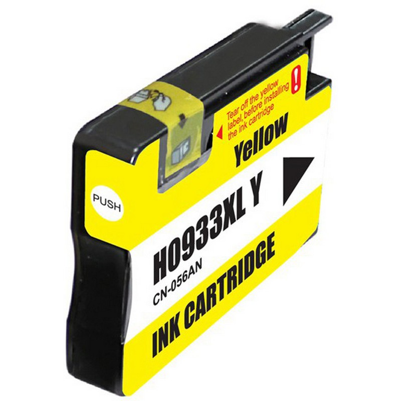 HP CN056AN Yellow Ink Cartridge-HP #933XLY