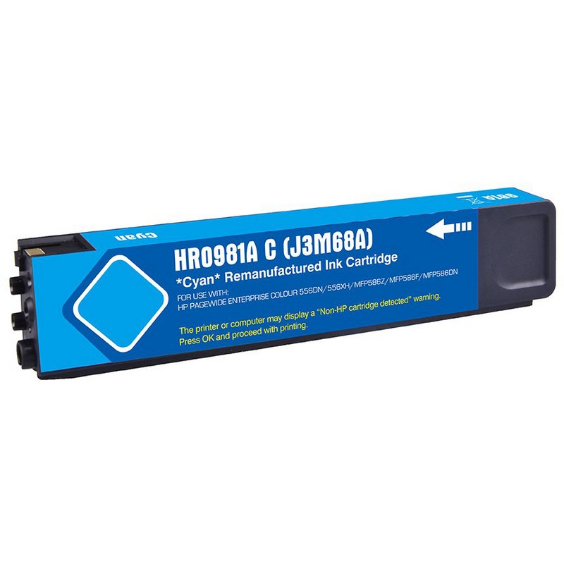 HP J3M68A Cyan Ink Cartridge-HP #981AC