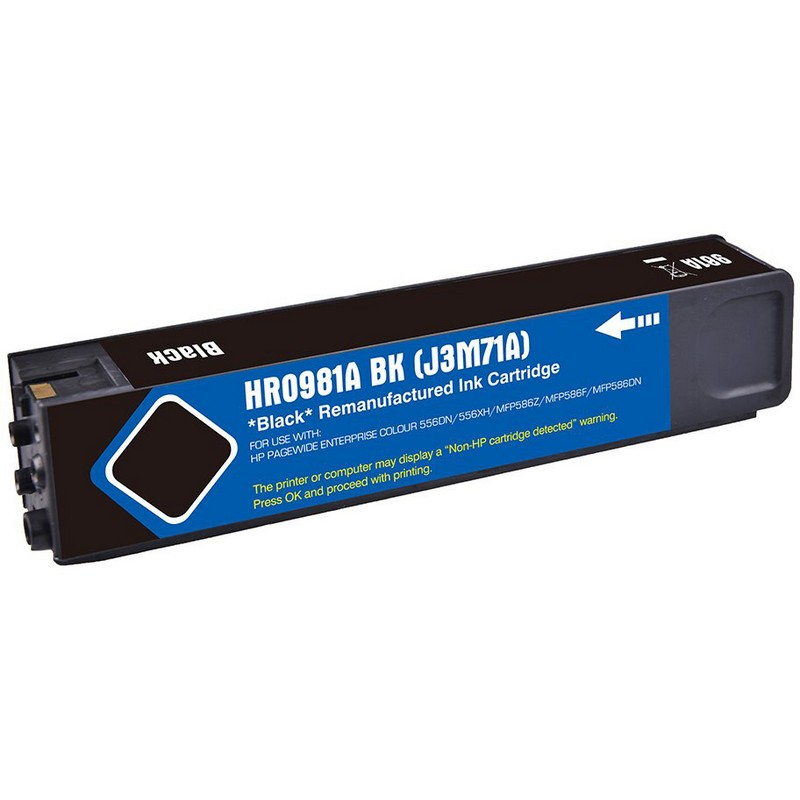 HP J3M71A Black Ink Cartridge-HP #981ABK