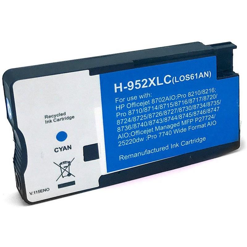 HP LOS61AN Cyan Ink Cartridge-HP #952XLC