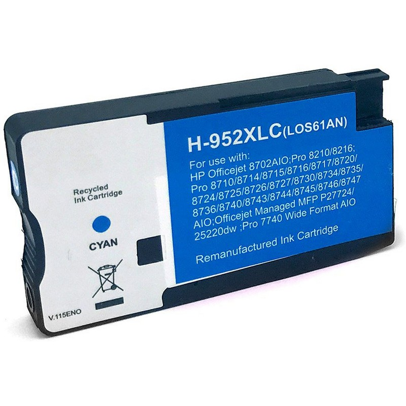 HP LOS61AN Cyan Ink Cartridge-HP #952XLC