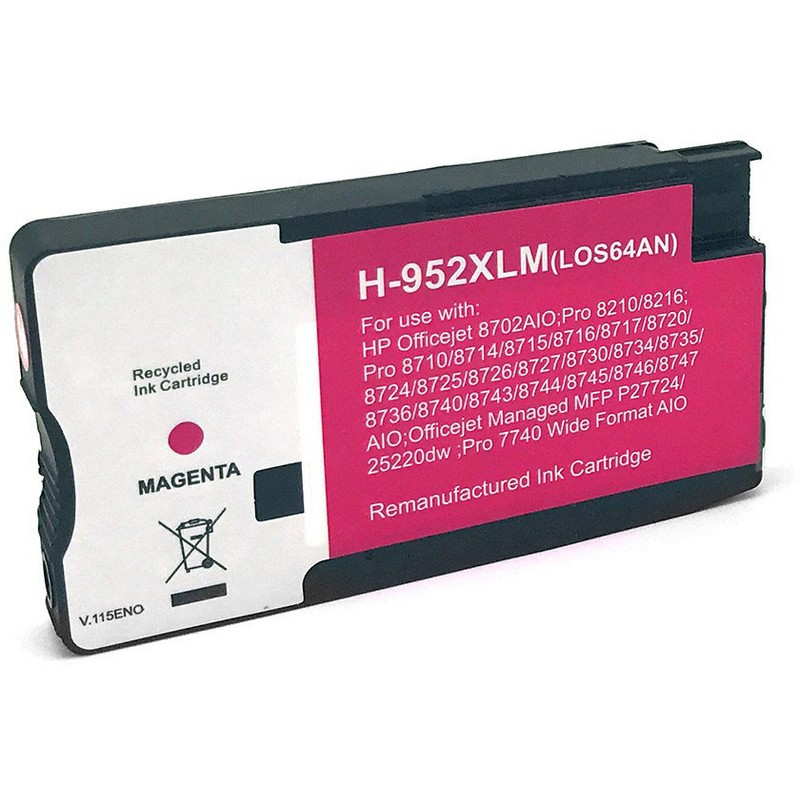 HP LOS64AN Magenta Ink Cartridge-HP #952XLM