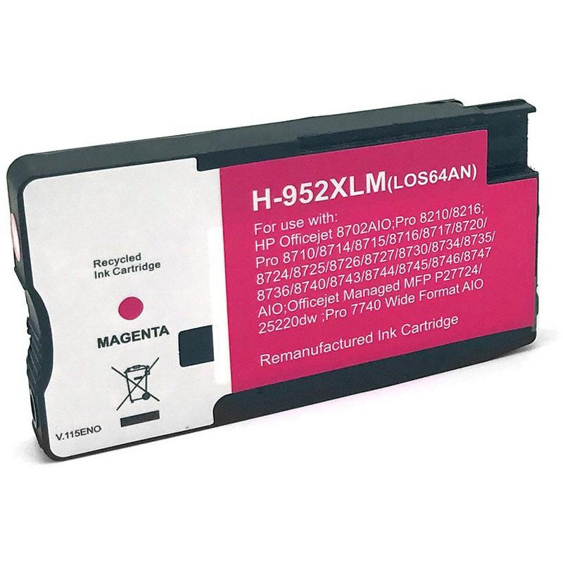 HP LOS64AN Magenta Ink Cartridge-HP #952XLM