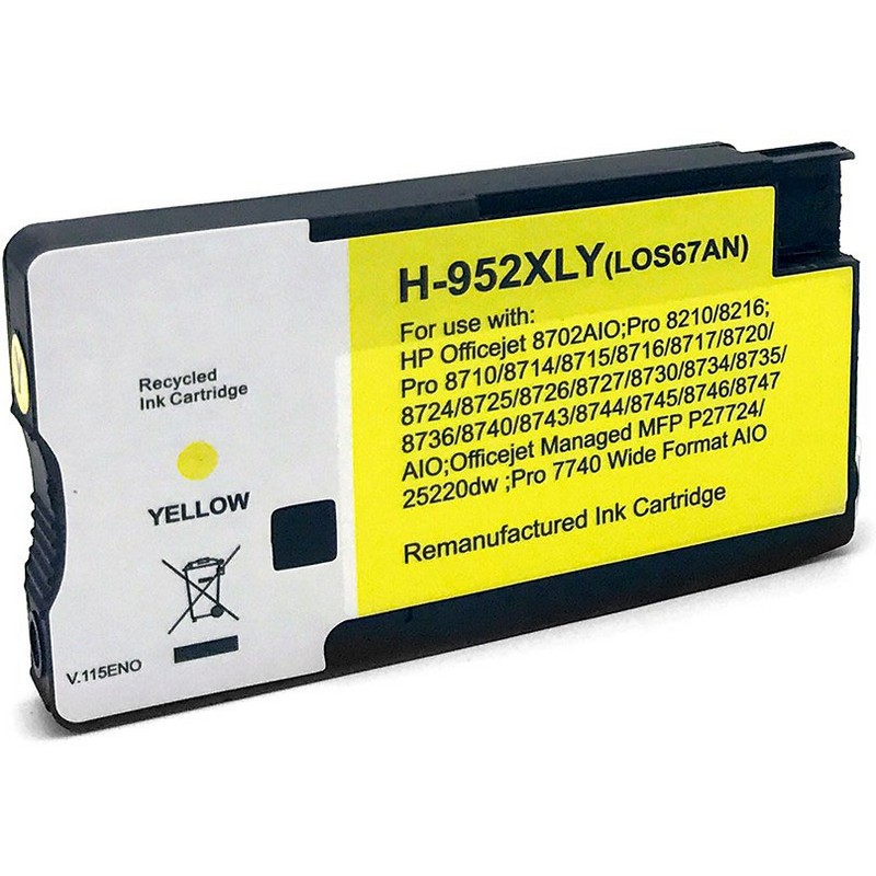 HP LOS67AN Yellow Ink Cartridge-HP #952XLY