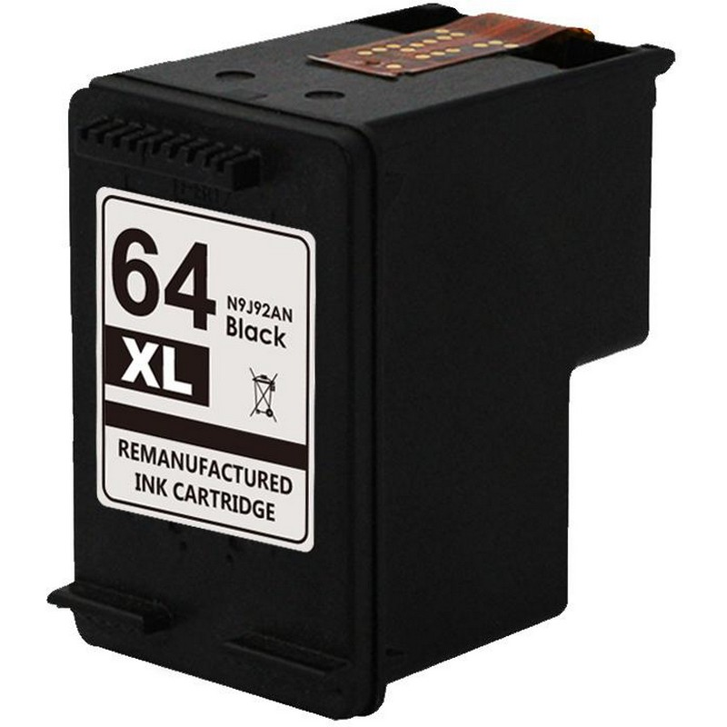 HP N9J92AN Black Ink Cartridge-HP #64XL