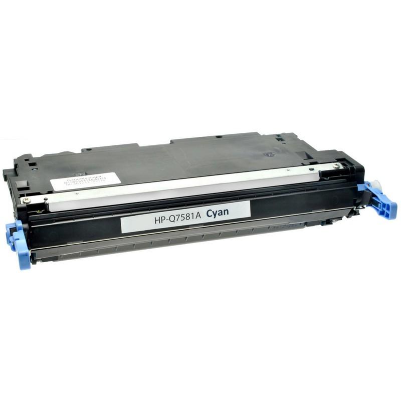 Cheap HP Q7581A Cyan Toner Cartridge