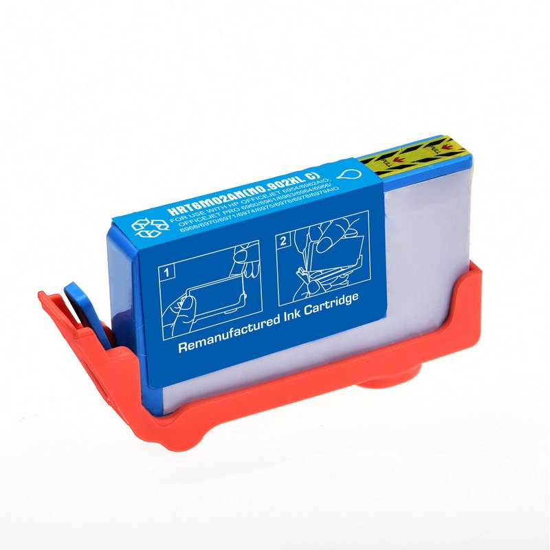 HP T6M02AN Cyan Ink Cartridge-HP #902XLC