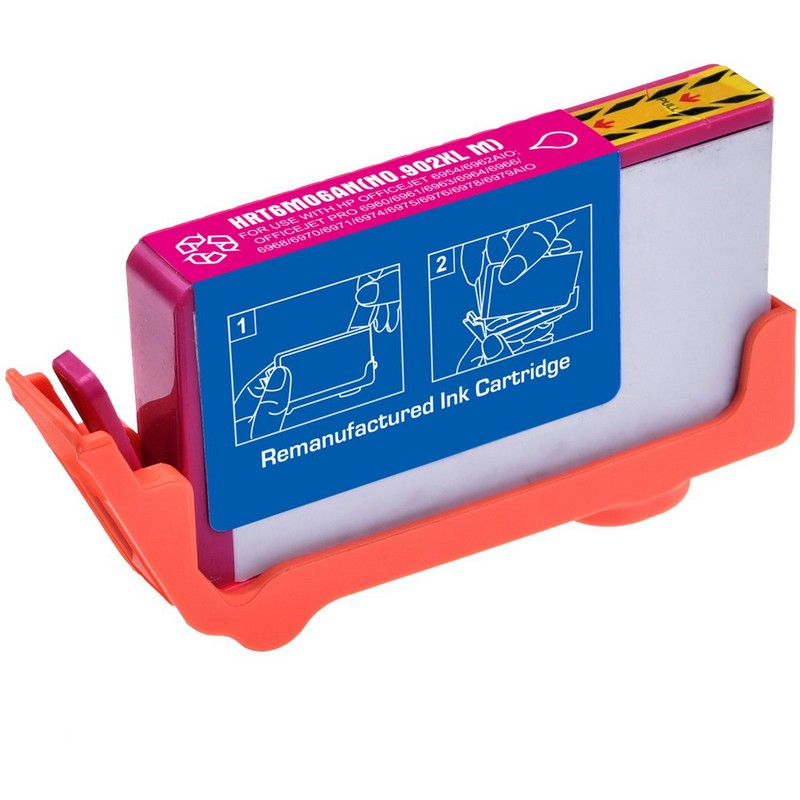 HP T6M06AN Magenta Ink Cartridge-HP #902XLM