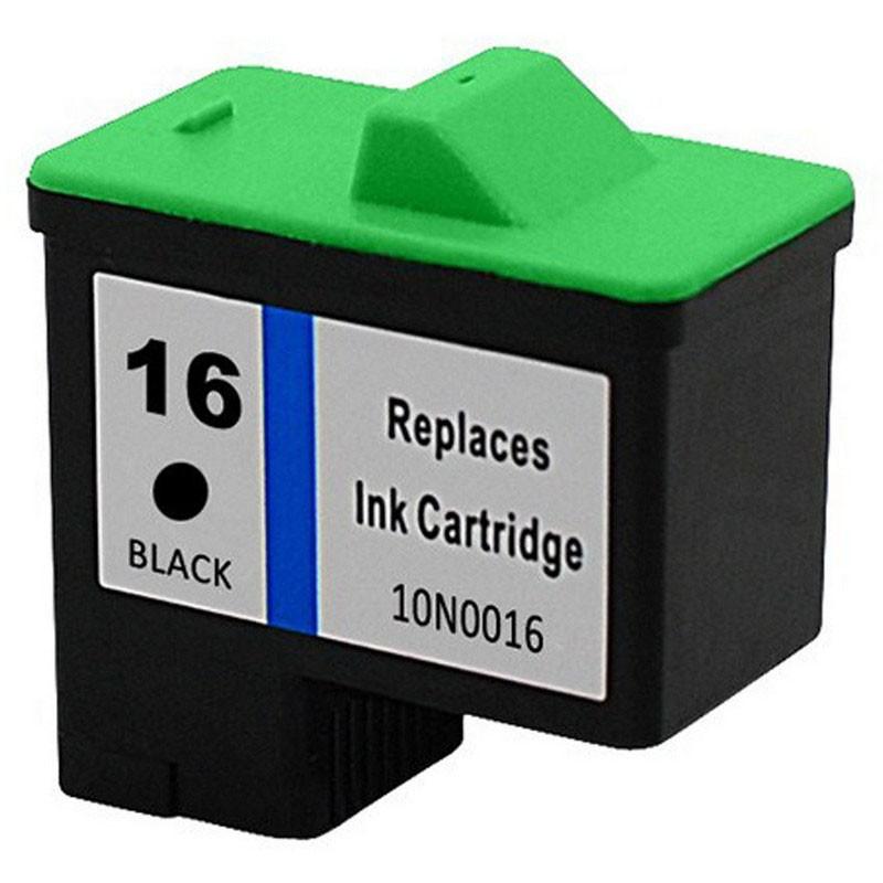 Lexmark 10N0016 Black Ink Cartridge-Lexmark #16