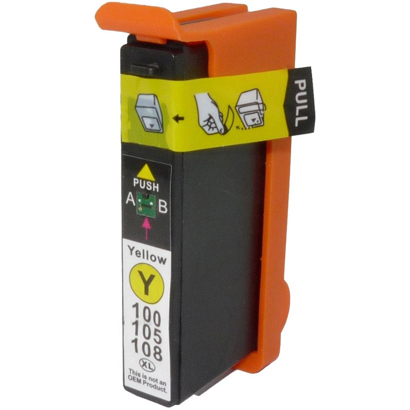 Lexmark 14N1095 Yellow Ink Cartridge-Lexmark #100XL