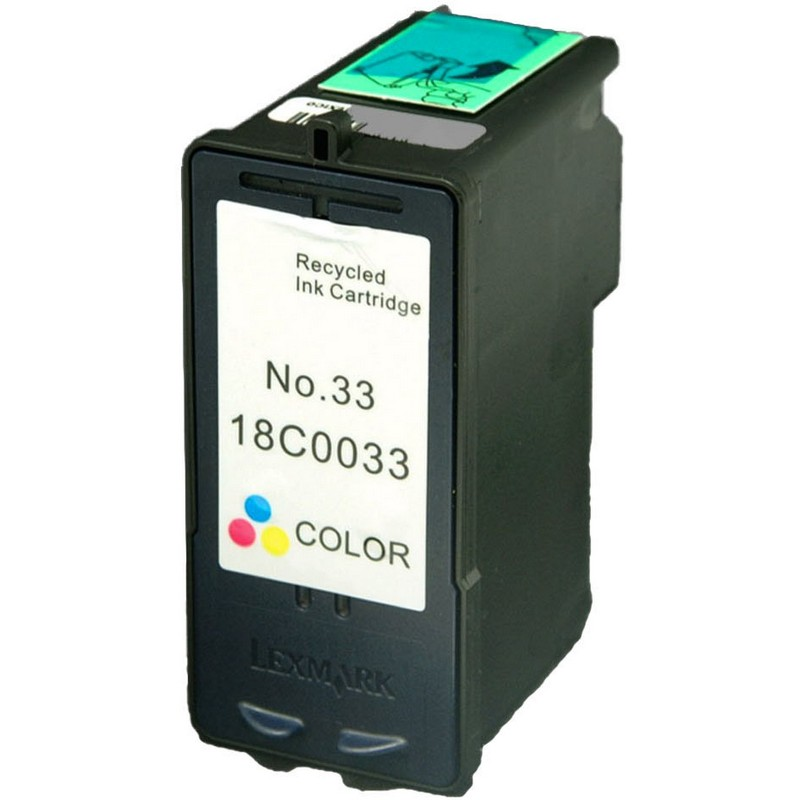 Lexmark 18C0033 Color Ink Cartridge-Lexmark #33