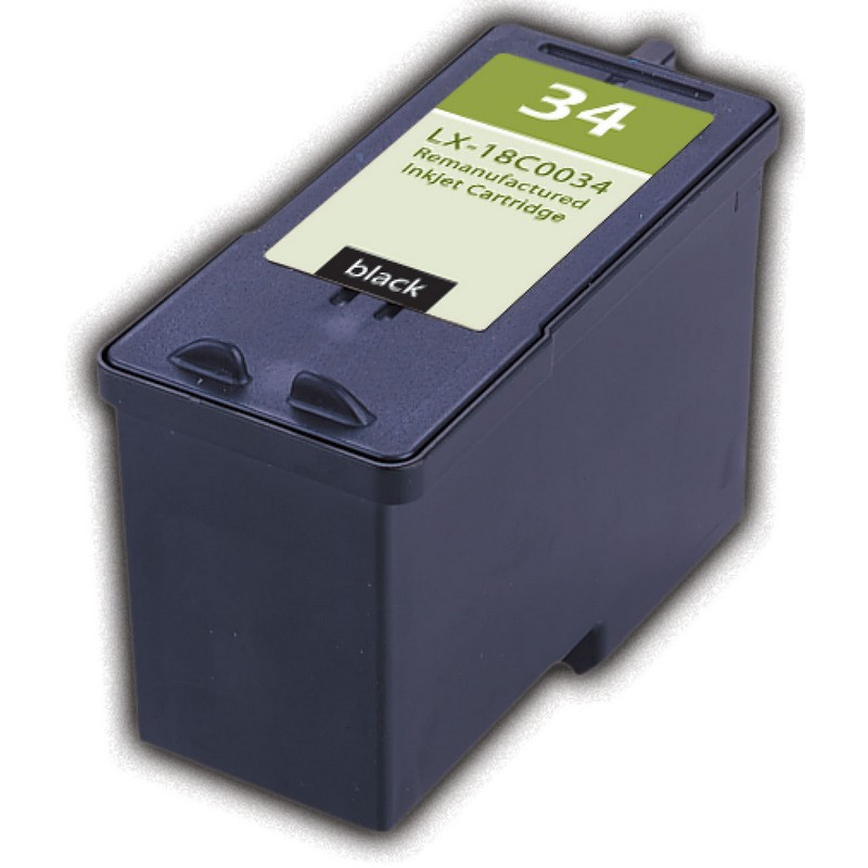 Lexmark 18C0034 Black Ink Cartridge-Lexmark #34
