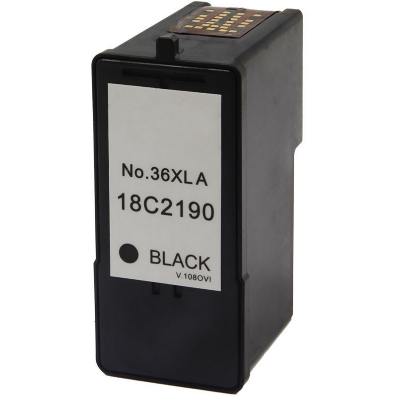 Lexmark 18C2190 Black Ink Cartridge-Lexmark #36XL